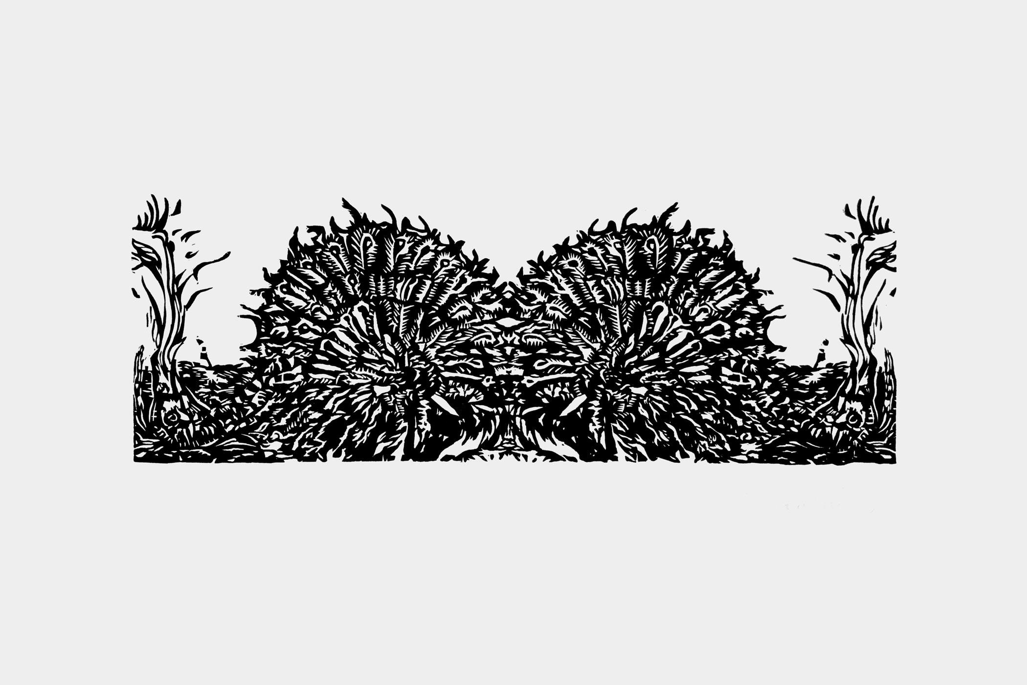 Ein Holzschnitt von Christian Thanhäuser gestaltet für den Hell Fire Touring Club