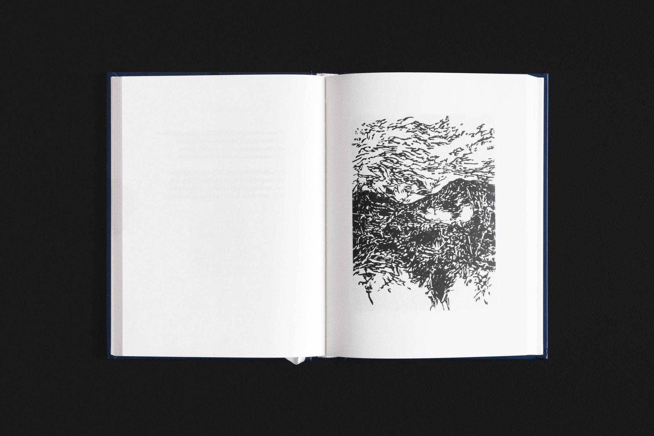 """Das Buch """"Geheimnisvolle Weiten"""" von Otokar Březina erschienen im Ketos Verlag mit einem Holzschnitt von Christian Thanhäuser"""