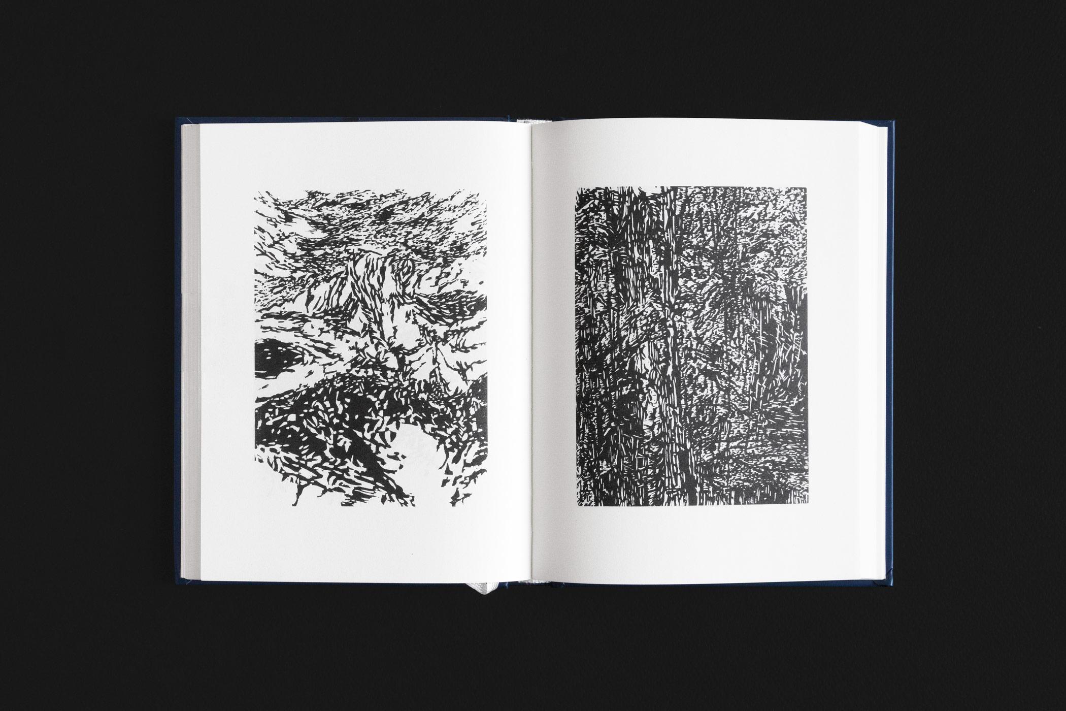 """Das Buch """"Geheimnisvolle Weiten"""" von Otokar Březina erschienen im Ketos Verlag mit zwei Holzschnitten von Christian Thanhäuser"""