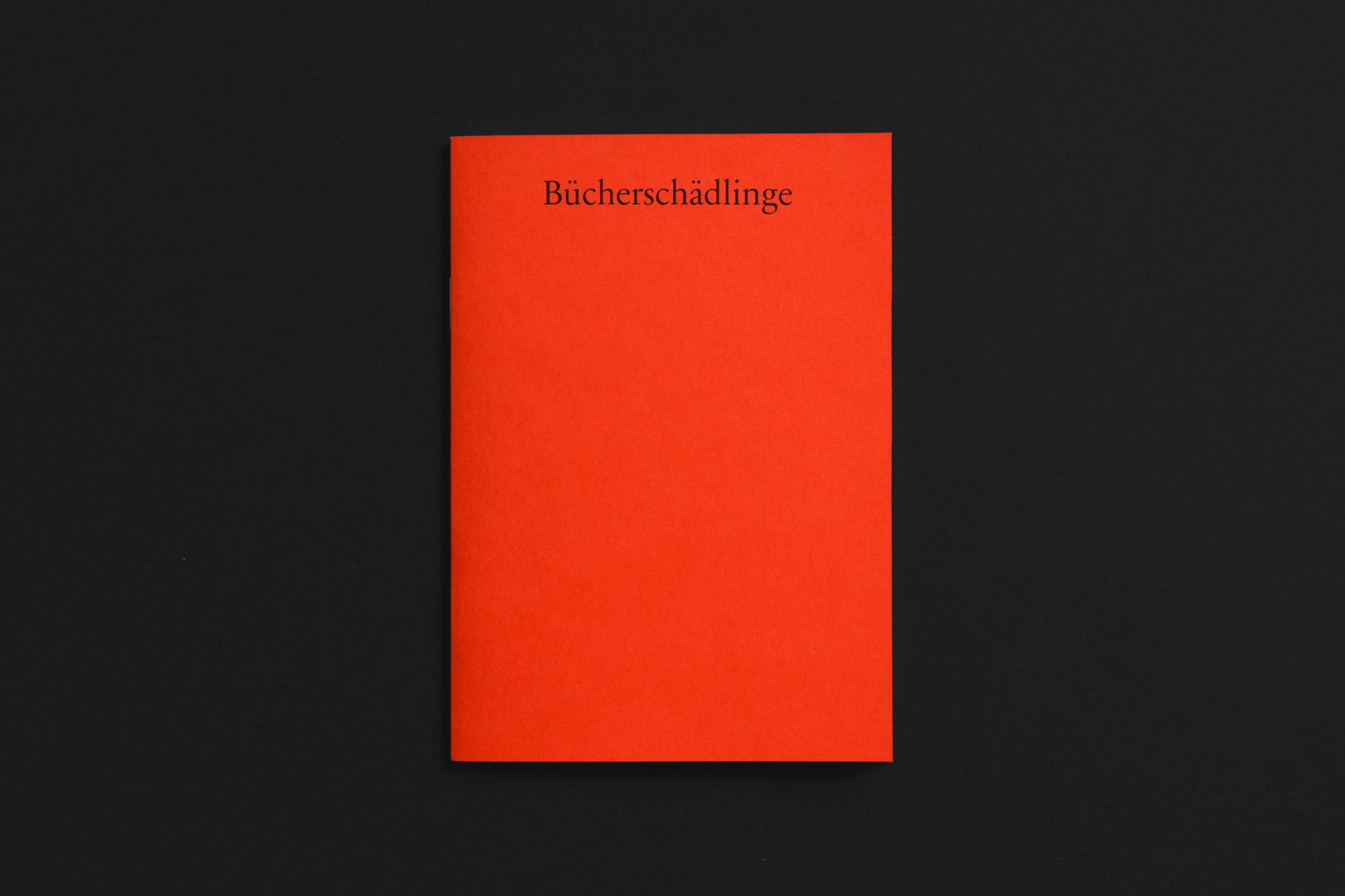 Cover der Bücherschädlinge Broschür der Edition Thanhäuser mit Holzschnitten von Christian Thanhäuser