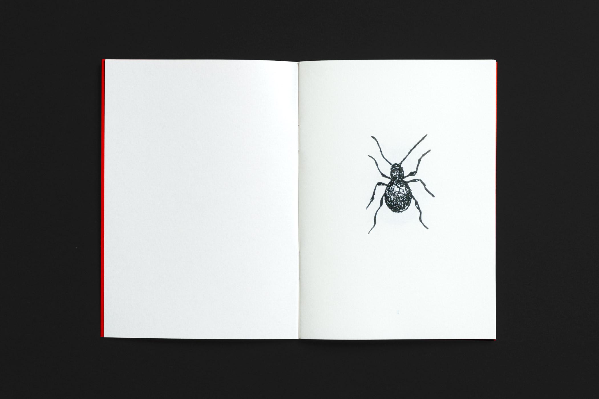 Innenseiten der Bücherschädlinge Broschür der Edition Thanhäuser mit Holzschnitten von Christian Thanhäuser